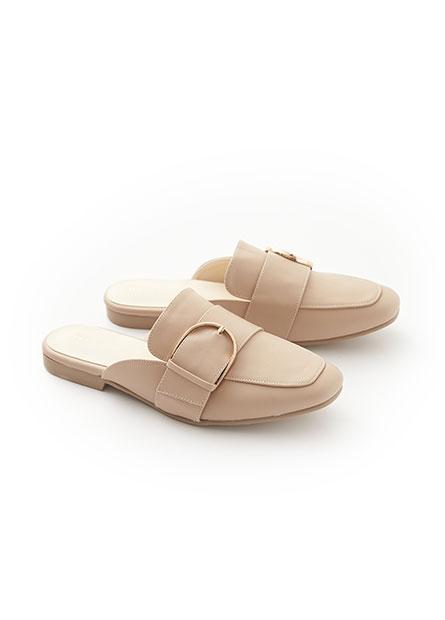 金屬釦環穆勒鞋