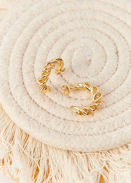 歐美風金屬圓形耳環