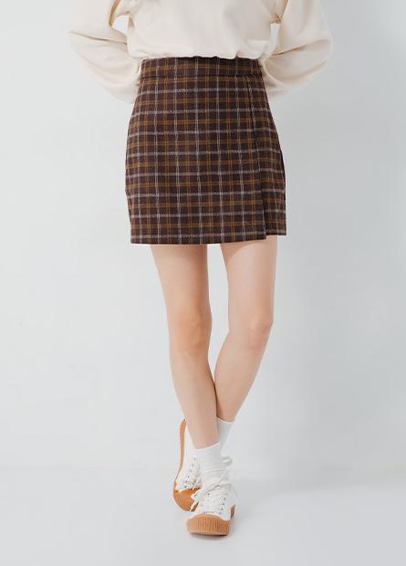 毛呢A字短裙