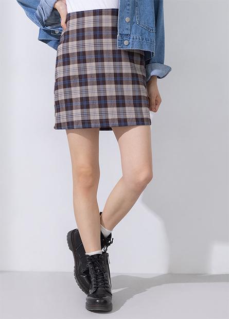格紋英倫風A字短裙