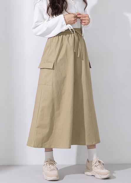 鬆緊綁帶側口袋工作裙