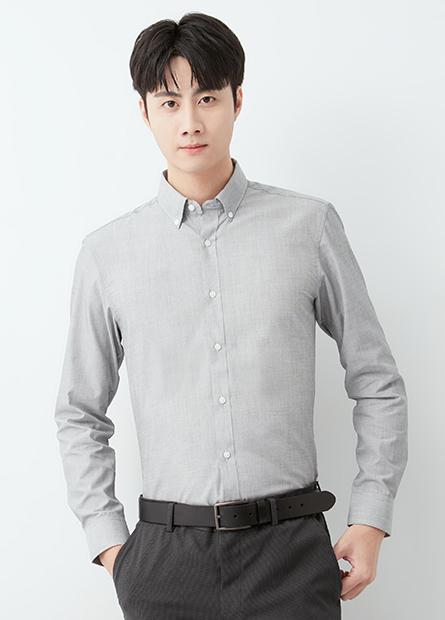 修身型基本長袖襯衫