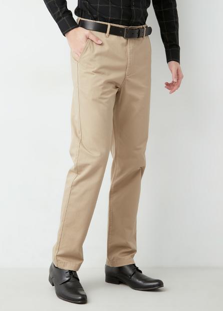 Regular Fit 標準型斜紋褲