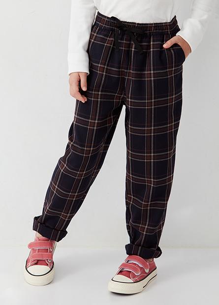 女童鬆緊綁帶錐形褲