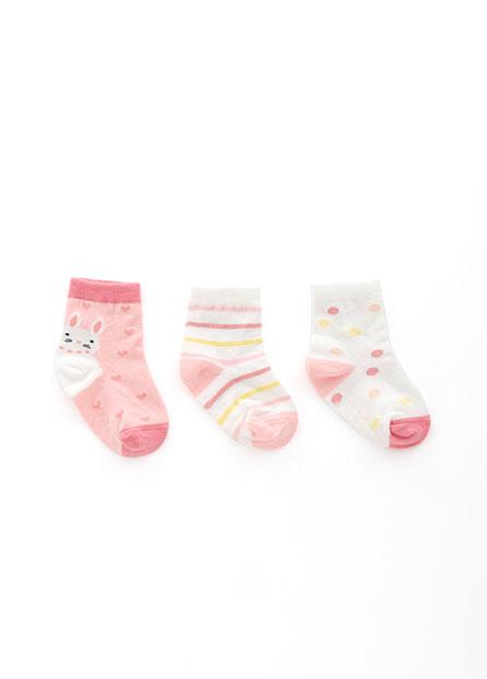 女嬰可愛造型短襪(三入)