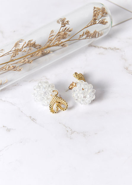 簡約金屬鑽飾耳環