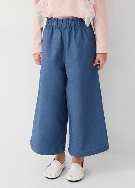 女童舒適鬆緊腰寬褲