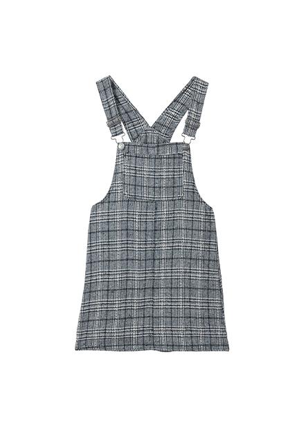 調節釦吊帶短裙
