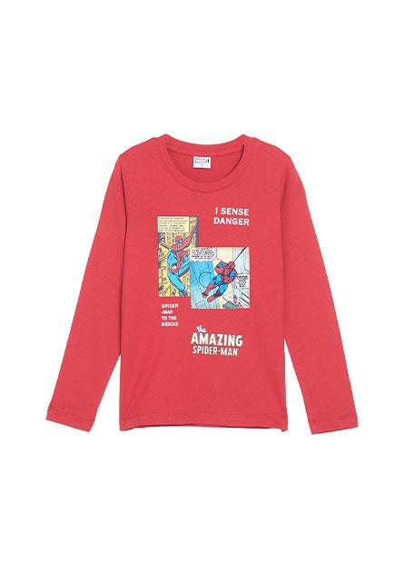 男童蜘蛛人漫畫長袖T恤