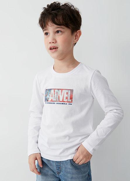 男童MARVEL英雄長袖T恤
