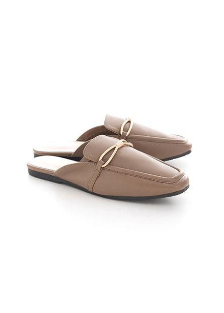 金屬飾釦穆勒鞋