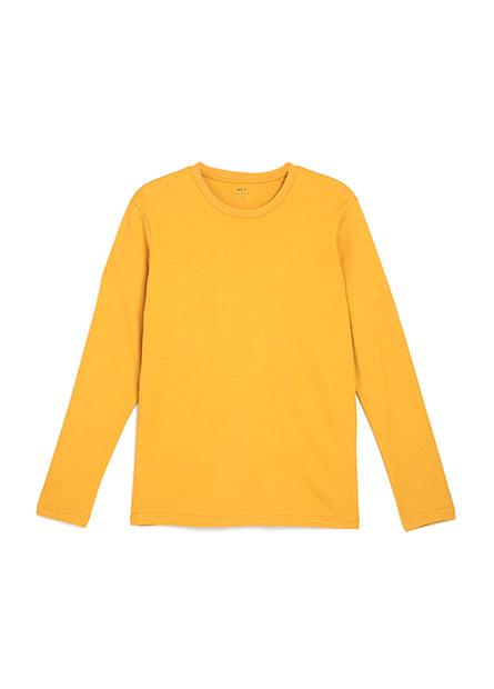 吸濕保暖素色圓領長袖T恤