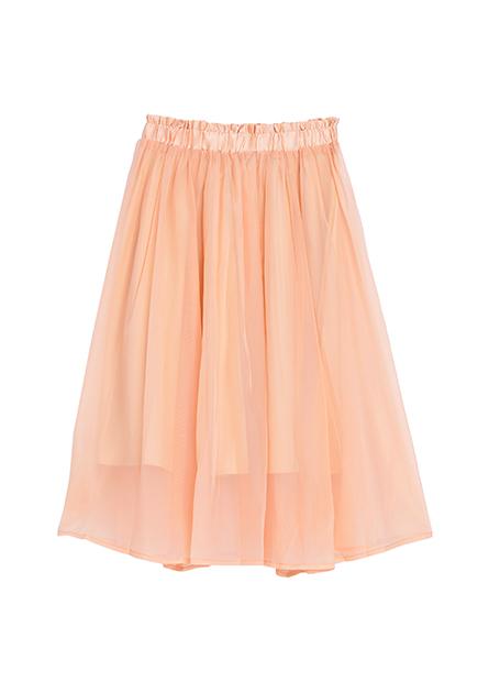 女童微光澤鬆緊長裙
