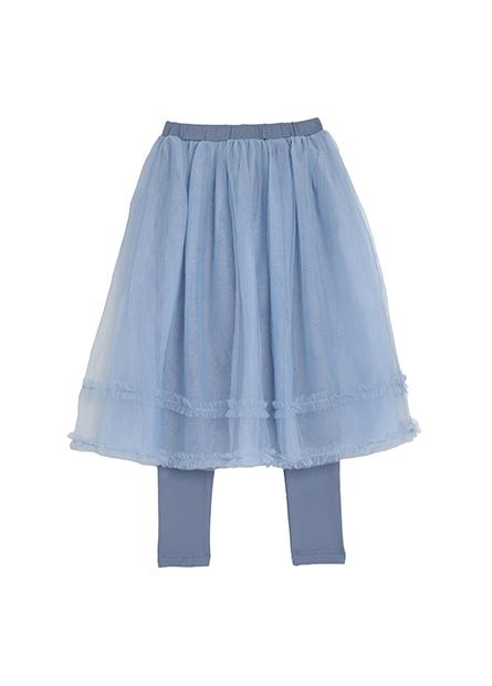 女童羅紋磨毛花邊紗裙內搭褲