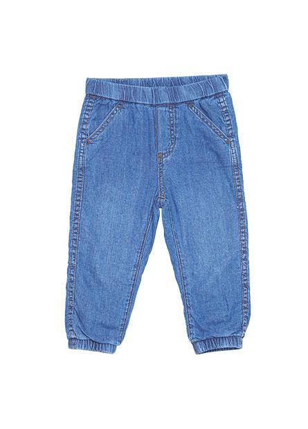 男嬰雙層縮口牛仔褲