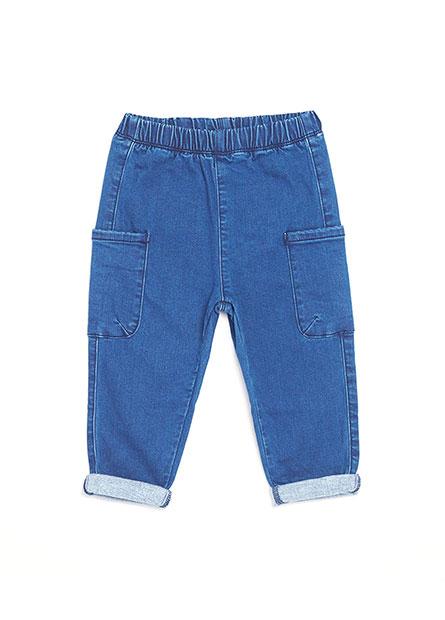 男嬰側邊雙口袋牛仔褲