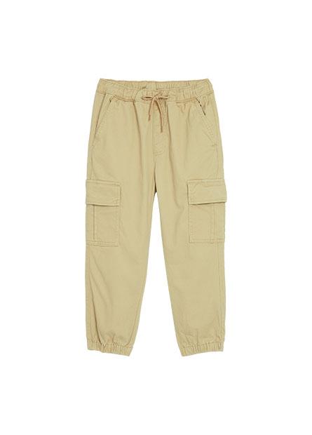 男童工裝束口褲
