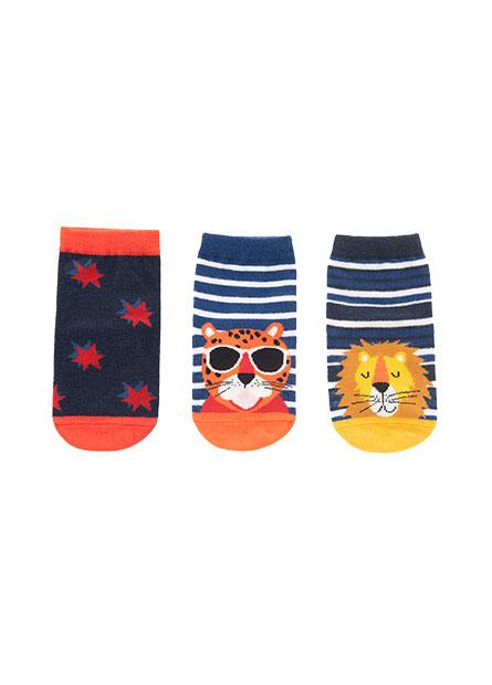 男嬰印花造型短襪(三入)