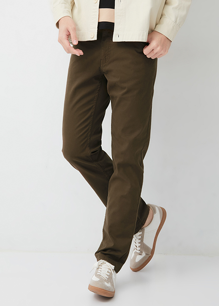 Slim Fit 修身直筒五口袋長褲