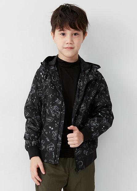 男童防風連帽外套