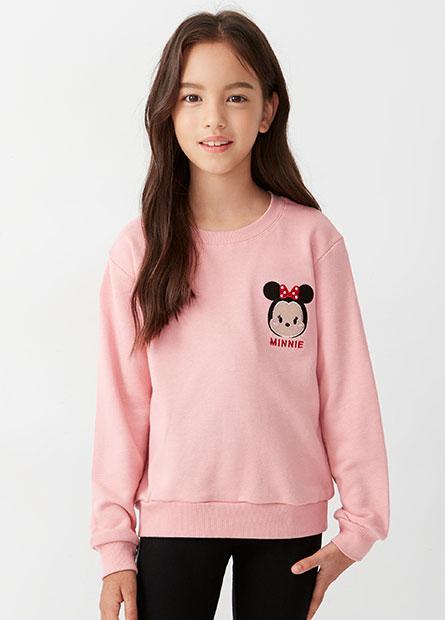 女童TSUMTSUM印花大學T