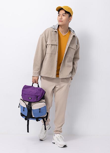 多口袋休閒後背包