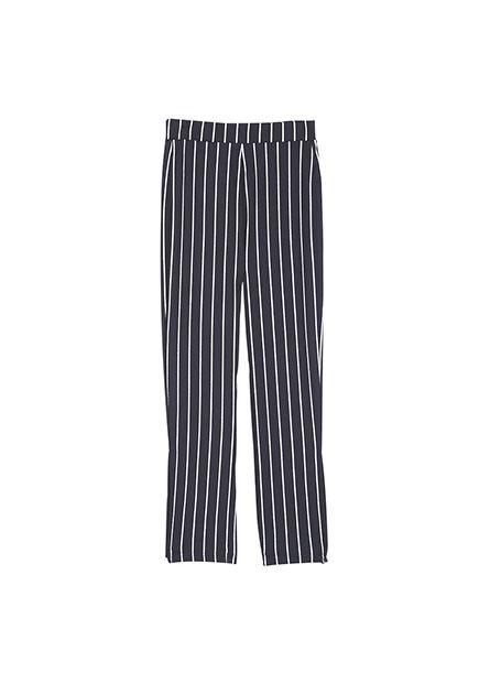 女童條紋鬆緊帶長褲
