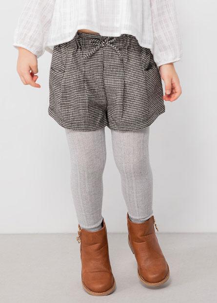 女嬰荷葉鬆緊綁帶短褲