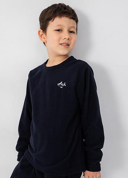 男童Fleece刺繡家居上衣