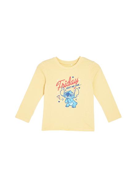 嬰兒史迪奇印花長袖T恤