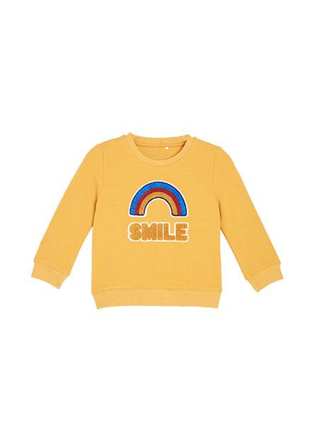嬰兒彩虹文字印花上衣