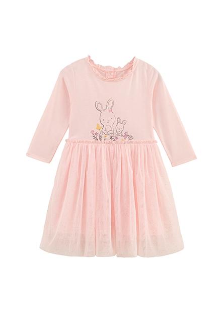女嬰荷葉領紗裙洋裝