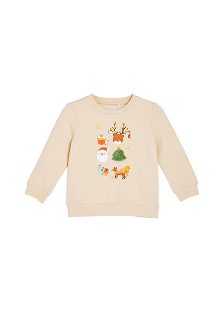 嬰兒聖誕節印花上衣